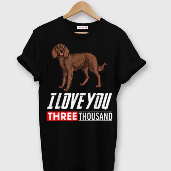 American Water Spaniel Dog I Love You 3000 shirt