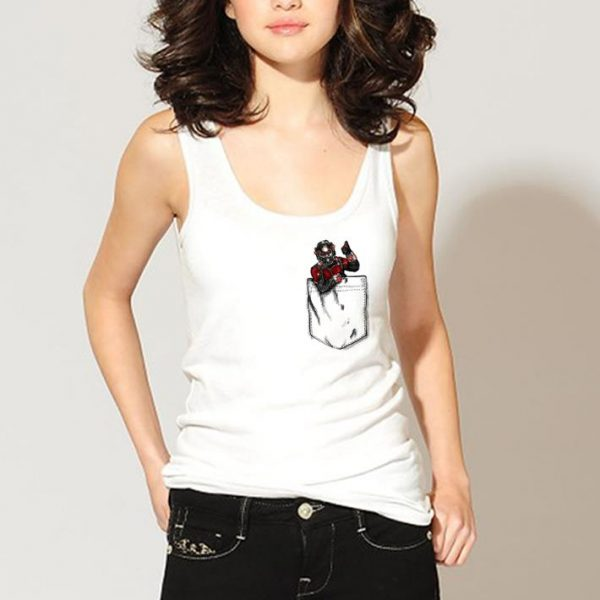 Ant man in pocket shirt