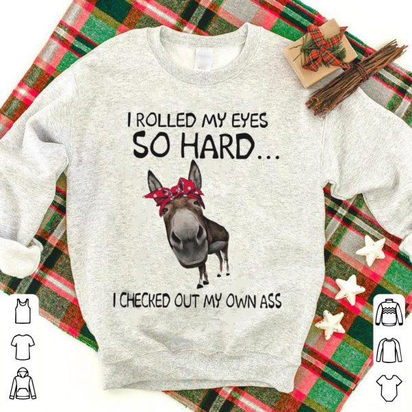 Donkey I rolled my eyes so hard I checked out my own ass shirt