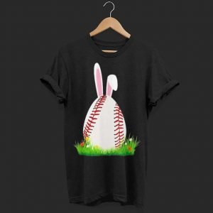 Easter Baseball Bunny ear Egg shirt