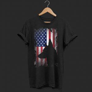 German Shepherd American Flag shirt