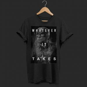Marvel Avengers Endgame Captain America whatever it takes shirt