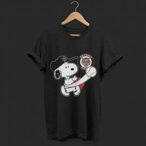Snoopy Play Baseball Tigers Team shirt