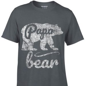 Fathers Day Papa Bear Distressed shirt