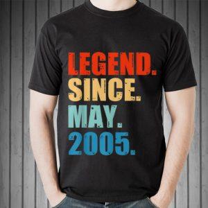 Legend Since May 2005 shirt