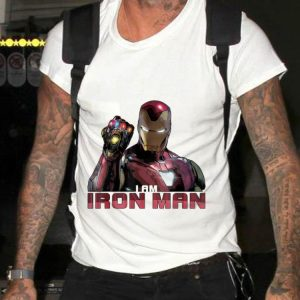 Marvel Avengers Endgame I Am Iron Man Gauntlet Infinity shirt