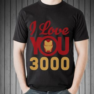 Marvel Avengers Endgame Iron Man I Love You 3000 Helmet shirt