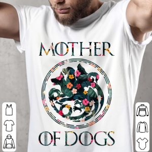 Mother Of Dogs Mom Dog Owner Lover floral shirt 1