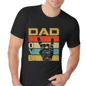 Retro Vintage Dad Love Rock Roll Fathers Day shirt