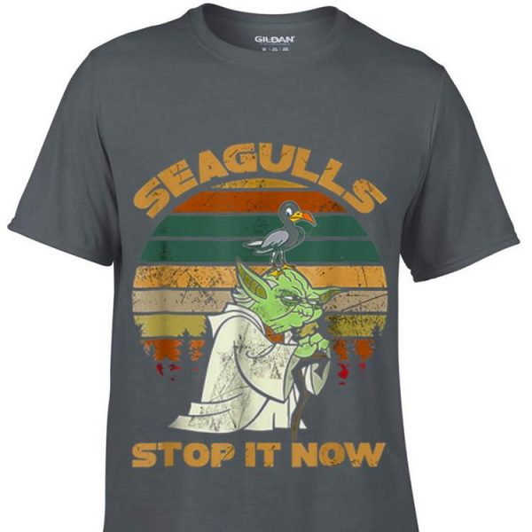 Seagulls Stop It Now Bird Vintage shirt