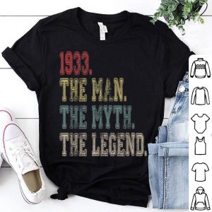 1933 The Man Myth Legend 86th Birthday Vintage shirt