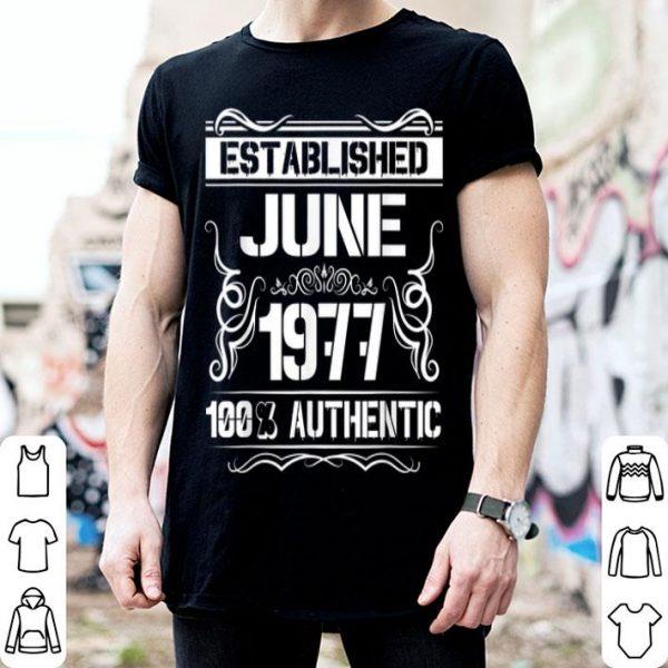 42nd Birthday Established June 1977 shirt