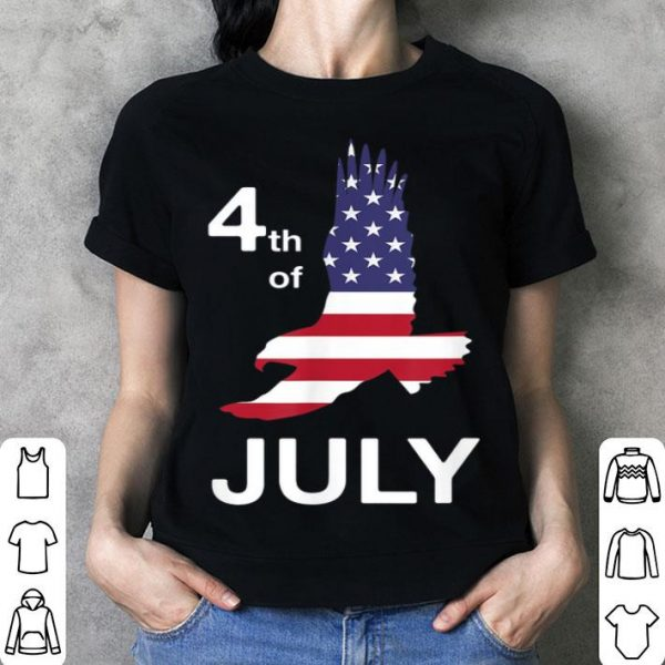4th Of July American Flag Soaring Flying Eagle shirt