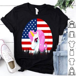 4th Of July Unicorn American Flag shirt