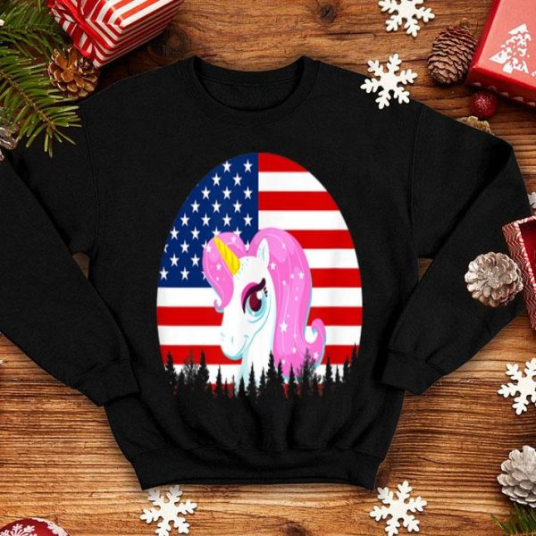 4th Of July Unicorn American Flag shirt