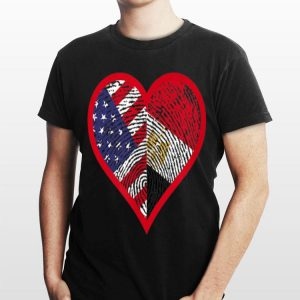 America And Egypt Two Countries One Heart shirt