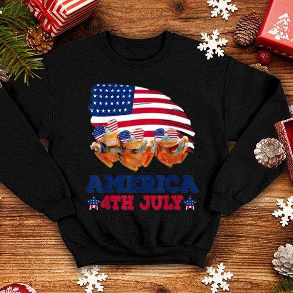 American 4th July Independence Day Frog shirt