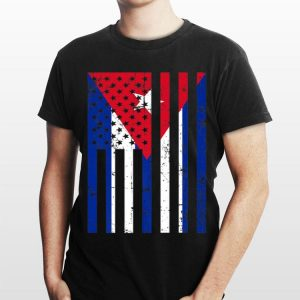 Cuba American Flag For New Us Citizen shirt