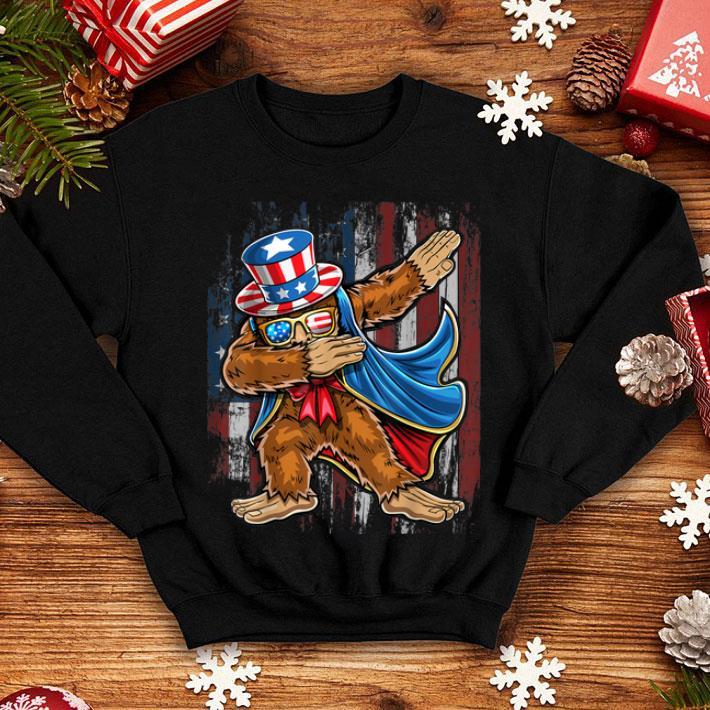 7c4b13f41 Dabbing Bigfoot Uncle Sam American Flag 4th of July shirt, hoodie ...
