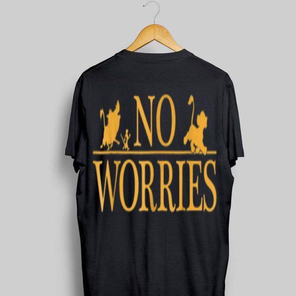 Disney Lion King No Worries Font Simba shirt