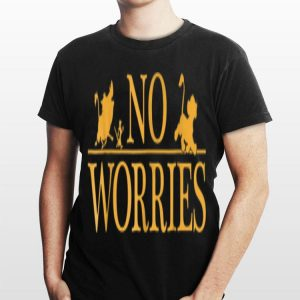 Disney Lion King No Worries Font Simba shirt