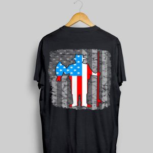 Fishing American Flag Vintage United States 4th Of July shirt