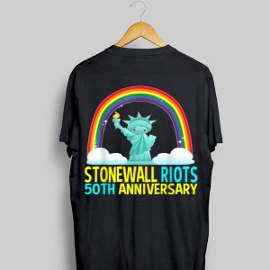 Lgbtq Gay Pride Month Stonewall 50th Anniversary Rainbow Liberty Enlightening the World shirt
