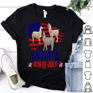 Llama Patriotic 4th Of July American Flag shirt