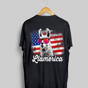 Llamerica American Llama Patriotic Usa 4th Of July shirt