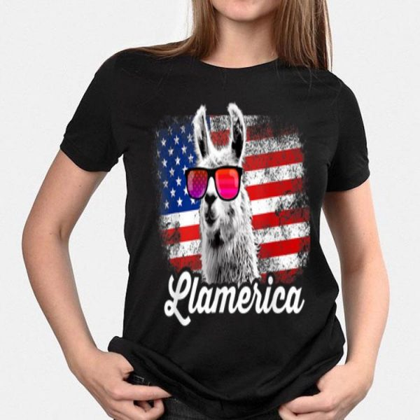 Llamerica American Llama Patriotic Usa 4th Of July shirt