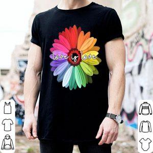 Love Is Love Love Daisy LGBT Rainbow Gay Lesbian shirt