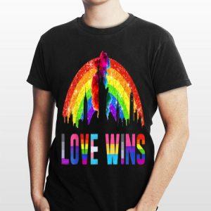 Love Wins Rainbow 80S Lgbtq Equality Stonewall shirt