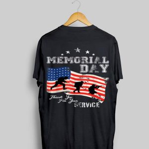 Memorial Day Service Usa Flag Thank You For Your Service shirt