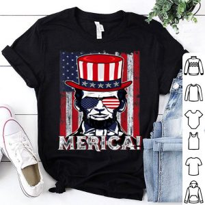 Merica Abe Lincoln 4th Of July American Flag Murica shirt