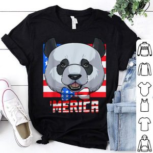 Merica Panda 4th Of July Us Flag shirt