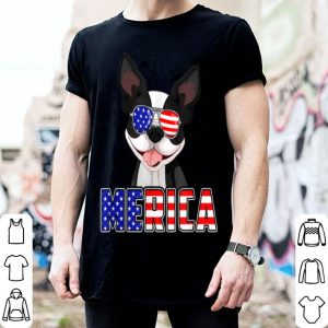 Merica boston terrier 4th Of July USA Flag Patriotic Dog shirt