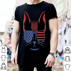 Patriotic Pet American Sunglasses Cat shirt