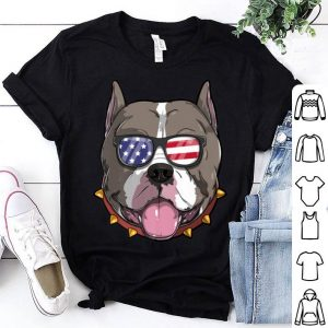 Pitbull Dog Patriotic Usa 4th Of July American shirt