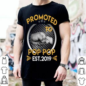 Promoted To Pop Pop Est 2019 First Time New Father Day shirt