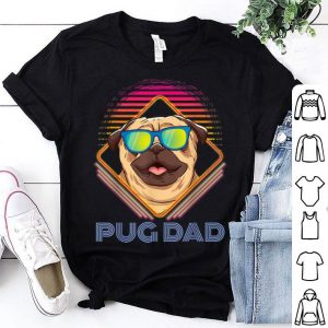 Pug Dad Father Day Vintage shirt