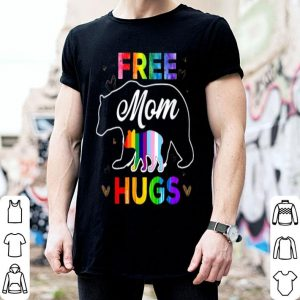 Rainbow Gray Pride Lgbt Free Mom Hugs shirt