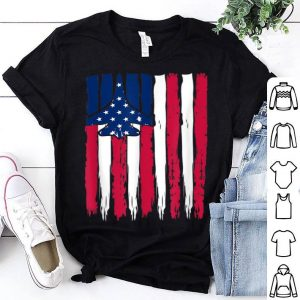 Red White Blue Air Force Flight Aviation American Flag shirt