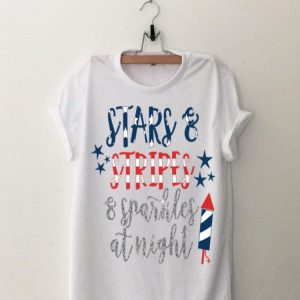 Stars and Stripes Sparkles at Night 4th of July Men Women Premium shirt