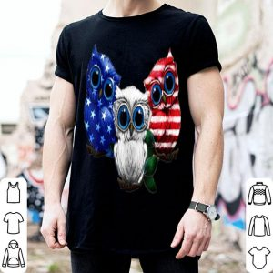 USA Independence Day American Flag Owl shirt