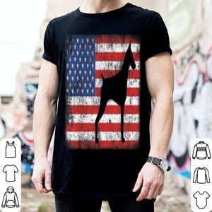Vintage Retro American Flag Doberman shirt