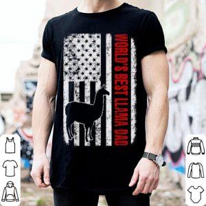 World Best Llama Dad American Flag shirt