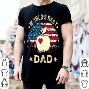 World Best Teacher Dad 4th Of July American Flag shirt