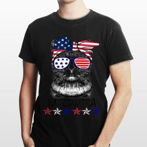 4Th Of July Meowica Cat Wear Sunglass Bandana American Flag shirt