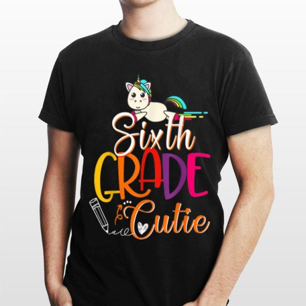 6th Grade Cutie First Day Of School Kids shirt