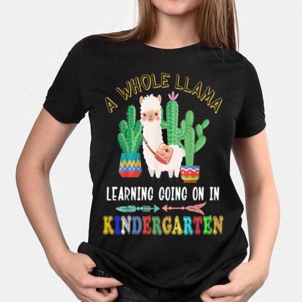 A Whole Llama Learning Going On kindergarten shirt